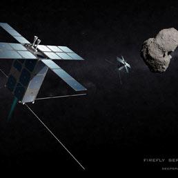 """""""Firefly"""" , lucciole, sono i piccoli satelliti, pochi centimetri di lato e 25 chili di peso, mandati a diecine nel sistema solare per censire e studiare gli asteroidi"""