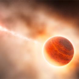 Un'illustrazione, di fantasia ma realistica, su come potrebbe presentarsi il nuovo pianeta.