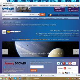 Una schermata del sito www.uwingu.com