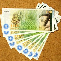 Banconote create per sperimentare il chip RFID