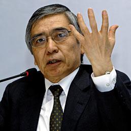 Il nuovo Governatore della Banca del Giappone Haruhiko Kuroda (Epa)