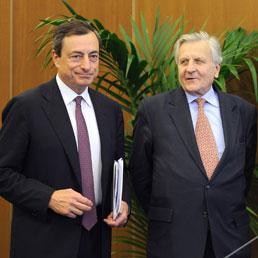 Mario Draghi e Jean-Claude Trichet