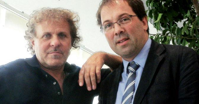 Nella foto Renzo Rosso (a sinistra) e Marco Santori, presidente di Etimos
