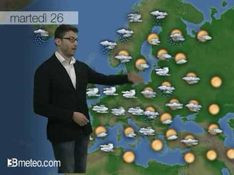 Le previsioni del tempo di martedì 26 maggio