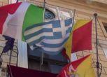 Grecia, a Palermo esposta la bandiera greca nella sede del Comune