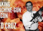 Presidenziali Usa: candidato cuoce il bacon sulla canna del mitra